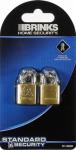 Hampton Prod Intl 171-20201 2-Pack 3/4-Inch Solid-Brass Padlock