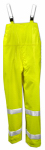 Tingley Rubber O53122.LG High-Visibility Overalls, Lime Yellow PVC On Polyester, Large