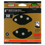 Ali Industries 7723 4-Pk., 5-In. 8-Hole 50-Grit Hook-and-Loop Sanding Discs