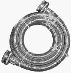 Homewerks Worldwide 7243-72-34-1 Stainless-Steel Washing Machine Hose, Stainless-Steel, 3/4 x 3/4 x 72-In.