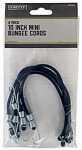 Max MM33 4-Pack 10-Inch Mini Bungee Cords