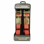 Max MM05 2-Pack 1 x 10-Inch Ratchet Tie-Downs