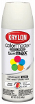 Krylon Diversified Brands K05355502 Colormaster Spray Paint, Indoor/Outdoor Use, Gloss Dover White, 12-oz.