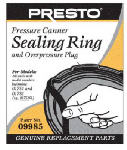 National Presto Ind 09985 Pressure Canner Sealing Ring With Automatic Air Vent
