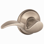 Schlage Lock F10V AVA 619 Satin Nickel Avanti Passage Lever Lockset