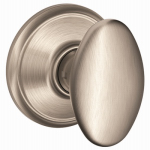 Schlage Lock F10V SIE 619 Satin Nickel Siena Egg-Knob Passage Lockset