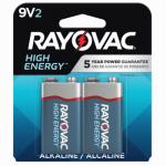 Spectrum/Rayovac A1604-2TJ Alkaline Batteries, 9V,2-Pk.