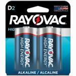 "Spectrum/Rayovac 813-2J Alkaline Batteries, ""D"", 2-Pk."