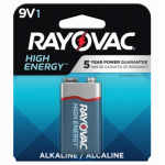 Spectrum/Rayovac A1604-1TJ Alkaline Battery, 9V