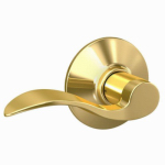 Schlage Lock F10V ACC 605 Brass Accent Passage Lever Lockset