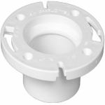 Charlotte Pipe & Foundry PVC 00800  0600HA Hub End Closet Flange, White, 3 x 4-In.