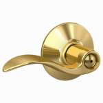 Schlage Lock F40V ACC 605 Brass Accent Privacy Lever Lockset
