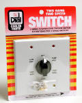Dial Mfg 7131 Evaporative Cooler Wall Switch, 2-Speed, 6-Position, Metal