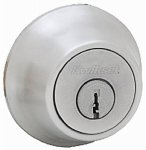 Kwikset 660 15 CP K6 Security Satin Nickel Single Cylinder Deadbolt