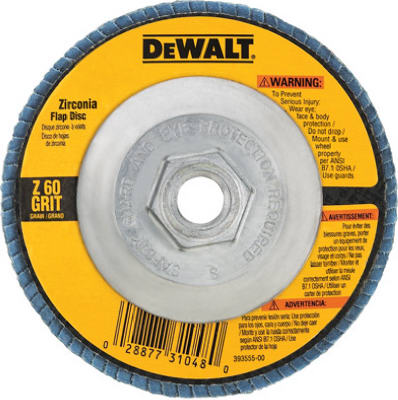 4.5 x 7//8-In. Dewalt Accessories DW8250 Flap Disc 40-Grit