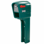 Step 2 533000 MailMaster TrimLine Plus Mailbox With Post Cover & Newspaper Holder, Spruce Polypropylene, 50.5 x 22.75 x 9.25-In.