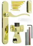 Hampton Products-Wright VBG115PB Serenade Storm Door Latch Lever, Polished Brass