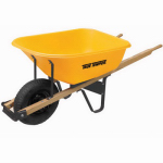 Ames Companies The RP625 6-Cu. Ft. Wheelbarrow With Wood Handles