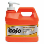 Gojo Industries 0948-04 Hand Cleaner / Lotion, Natural Orange, .5-Gal. Pump