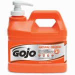 Gojo Industries 0958-04 Hand Cleaner / Lotion with Pumice, Natural Orange, .5-Gal. Pump