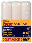 Purdy 14B863000 White Dove Paint Roller Covers, 3/8-In. Nap, 9-In., 3-Pk.