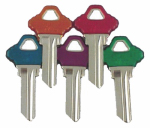 Kaba Ilco SC1-PC-ASSORTED Key Blanks For Schlage Lockset, Asst'd Colors, 5-Pk.