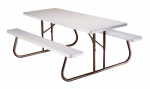 Lifetime Hong Kong 2119 Folding Patio Picnic Table, 6-Ft.