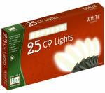 Noma/Inliten-Import 2924W-88 Christmas Lights Set, White Ceramic, 25-Ct.