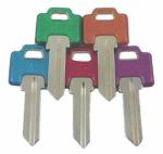 Kaba Ilco WR5-PC-ASSORTED Ilco Weiser Cool Color Plastic Head Key Blank
