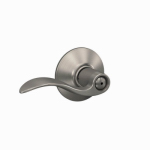 Schlage Lock F40VACC619 Satin Nickel Accent Privacy Lever Lockset