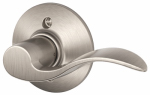 Schlage Lock F170VACC619RH Satin Nickel Accent Right-Hand Dummy Lever Lockset