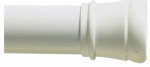 Zenith/Bathware 512W Adjustable 40-Inch Tension Shower Rod, White