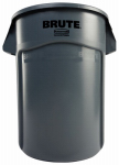 Rubbermaid Comm Prod 264360GRAY Brute Trash Can, Gray, 44-Gal.