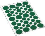 Shepherd Hdwe Prod 9423 46-Count Green Round Felt Pads