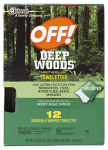 S C Johnson Wax 54996 Deep Woods Towelettes, 12-Ct.