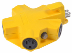 Southwire/Coleman Cable 997362 Yellow Jacket 5-Outlet Adapter, 15A