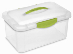 Sterilite 18942206 Showoffs Latched Storage Box,  Medium, Clear Lid & Base