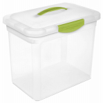 Sterilite 18962206 Showoffs Large Clear Latched Storage Box