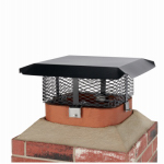 Hy-C SCADJ-S-C Chimney Cap, Black Steel, Multi-Fit, Round