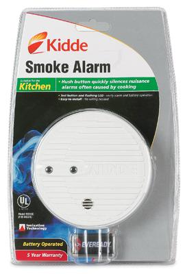 kidde i9060 premium battery operated ionization sensor smoke alarm with hush. Black Bedroom Furniture Sets. Home Design Ideas