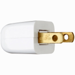 Pass & Seymour 2611WBPCC10 Non-Polarized Quick Plug, White, 6A, 125-Volt, 2-Pk.