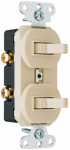 Pass & Seymour 690IGCCC5 Ivory 2-Single-Pole Combo Switch