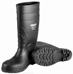 Tingley Rubber 31251.04 Steel-Toe Boots, Black PVC, 15-In., Men's Size 4, Women's Size 6