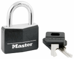 Master Lock 141D 1-9/16-Inch Solid-Aluminum Padlock With Black Covered Keyhead