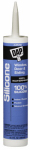 Dap 08649 Silicone Rubber Sealant, Almond, 9.8-oz.