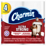 Procter & Gamble 94141 Charmin Ultra Strong, 4 Regular Roll - 77 sheets