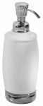 Interdesign 75601 York Lotion/Soap Dispenser, Ceramic/Chrome