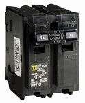 Square D HOM215CP 15A Double Pole Circuit Breaker