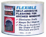 Cofair Products TSF425 Flexible Flashing, Window & Door, Self-Adhesive, Waterproof, 4-In. x 25-Ft.
