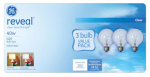 G E Lighting 11658 Reveal  40-Watt  Clear Globe Incandescent Bulbs, 3-Pack